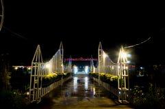 Opinião da noite do parque Imagens de Stock Royalty Free