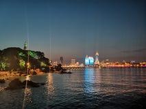 Opinião da noite do parque de Xiao Qingdao fotos de stock royalty free