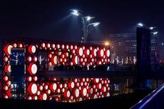 Opinião da noite do parque olímpico fotografia de stock royalty free