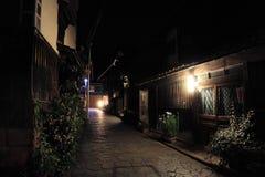 A opinião da noite do porto de Tomonoura foto de stock royalty free