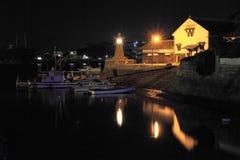 A opinião da noite do porto de Tomonoura imagem de stock royalty free