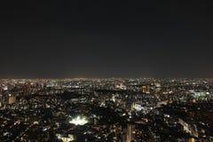 Opinião da noite do Tóquio Fotografia de Stock Royalty Free