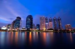 Opinião da noite em Banguecoque Fotos de Stock