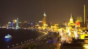 Opinião da noite em shanghai Imagens de Stock Royalty Free