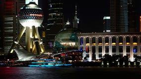 Opinião da noite em shanghai Fotografia de Stock