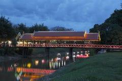 Opinião da noite em Siem Reap Imagem de Stock Royalty Free