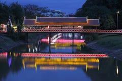 Opinião da noite em Siem Reap Fotografia de Stock Royalty Free