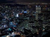 Opinião da noite em Toronto do centro Fotografia de Stock Royalty Free
