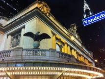 Opinião da noite da estação de Grand Central Imagens de Stock Royalty Free