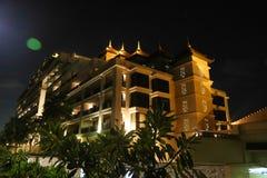 Opinião da noite da ilha de palma - Dubai Imagens de Stock Royalty Free