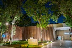Opinião da noite da micro galeria de AUO do mundo Flora Exposition de Taichung imagens de stock