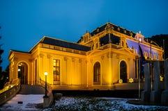 Opinião da noite no casino no bei Wien de Baden Fotos de Stock