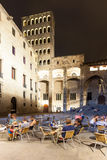 Opinião da noite Placa del Rei em   Barcelona Imagem de Stock