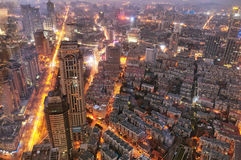 Opinião da noite da porcelana de Nanjing fotografia de stock royalty free