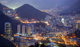 Opinião da noite Rio de janeiro Fotos de Stock Royalty Free