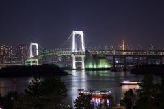 Opinião da Odaiba-noite Imagem de Stock