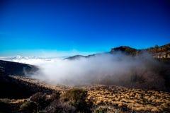 Opinião da paisagem acima das nuvens Fotografia de Stock