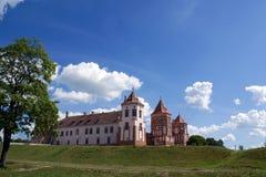 Opinião da paisagem ao castelo Imagens de Stock Royalty Free