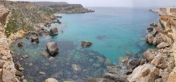 Opinião da paisagem da baía do paraíso da parte superior Fotos de Stock Royalty Free