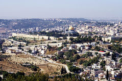 Opinião da paisagem a cidade santa do Jerusalém imagem de stock royalty free