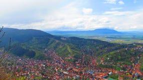 Opinião da paisagem com Brasov Imagens de Stock Royalty Free