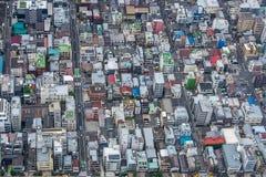 Opinião da paisagem da construção no Tóquio fotografia de stock royalty free