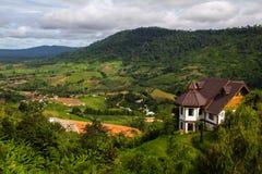 A opinião da paisagem da montanha em Khao Kho, Tailândia Imagem de Stock Royalty Free