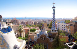 Opinião da paisagem de Barcelona Fotos de Stock Royalty Free