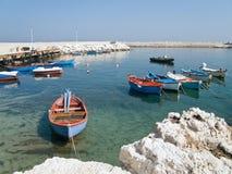 Opinião da paisagem de Giovinazzo. Apulia. Fotos de Stock
