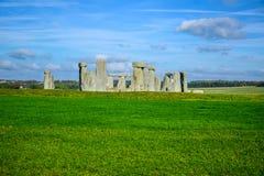 Opinião da paisagem de Stonehenge em Salisbúria, Wiltshire, Inglaterra, Reino Unido imagem de stock