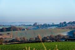 Opinião da paisagem do campo em Reino Unido foto de stock