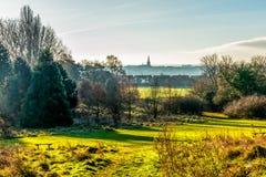 Opinião da paisagem do campo em Reino Unido imagem de stock
