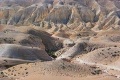 Opinião da paisagem do deserto de Judean israel Imagem de Stock