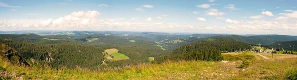 Opinião da paisagem do panorama sobre a Floresta Negra Alemanha Foto de Stock Royalty Free