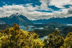 Opinião da paisagem em Bariloche Fotografia de Stock Royalty Free