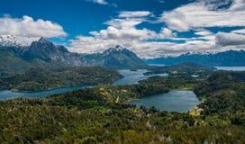 Opinião da paisagem em Bariloche Fotos de Stock Royalty Free