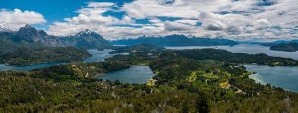 Opinião da paisagem em Bariloche Imagens de Stock