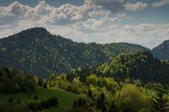 Opinião da paisagem em montes e em montanhas bonitos Imagem de Stock