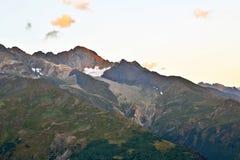 Opinião da paisagem no terreno montanhoso em Geórgia imagem de stock