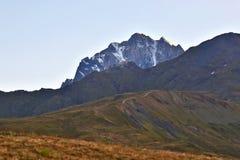Opinião da paisagem no terreno montanhoso em Geórgia fotografia de stock royalty free
