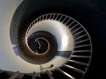 Opinião da parte superior na espiral de um farol Foto de Stock