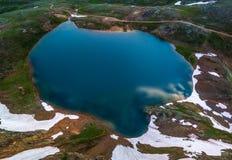 Opinião da parte superior - passagem de Como Colorado do lago de Poughkeepsie, San Ju foto de stock royalty free