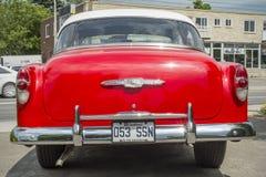 Opinião da parte traseira de Chevrolet Bel Air 1953 Imagem de Stock