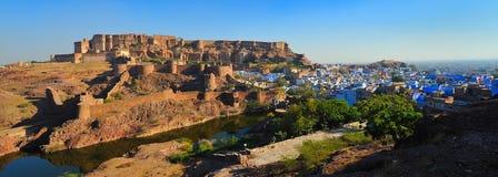 Opinião da parte traseira do forte de Mehrangarh Imagens de Stock Royalty Free