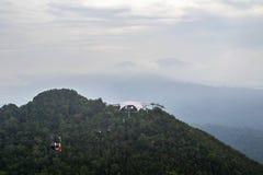 Opinião da ponte do céu, ilha de Langkawi, Malásia imagens de stock royalty free