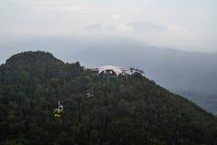 Opinião da ponte do céu, ilha de Langkawi, Malásia fotografia de stock royalty free