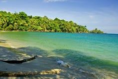 Opinião da praia Imagem de Stock Royalty Free