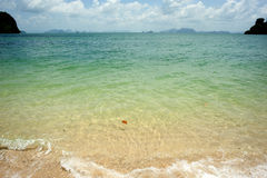 Opinião da praia da praia tailandesa Imagens de Stock