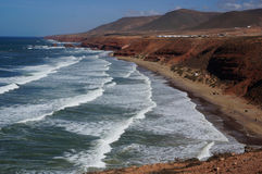 Opinião da praia de Legzira Imagens de Stock