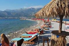 Opinião da praia de Montenegro Budva foto de stock royalty free